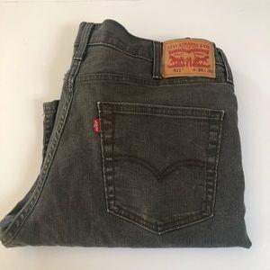 Levi's 511 Gray Jeans 38 x 30